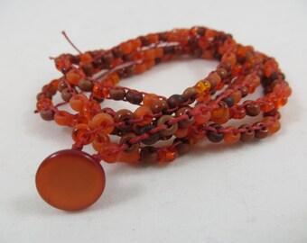 2 Strand  2 Wrap Red Bracelet