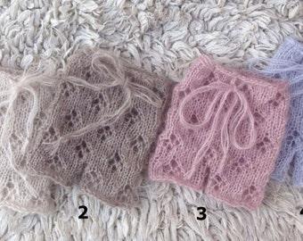 Lace shorts, Knit lace pants, Newborn knit shorts, Baby shorts, Handmade