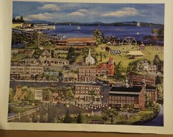 "1993 ""Laconia,NH Centennial"" Print 18x24"" by Joanna DeCesare"