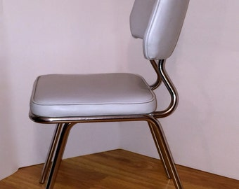 MId Century Modern Desk Chair Chrome Vinyl Retro Chair Art Deco
