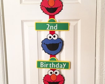 Elmo and Cookie Monster Birthday Party Sign, Personalized, Elmo party, Sesame Street party