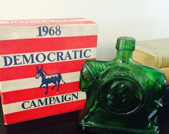 1968 Wheaton Collectibles Campaign Series Democratic Party Bottle
