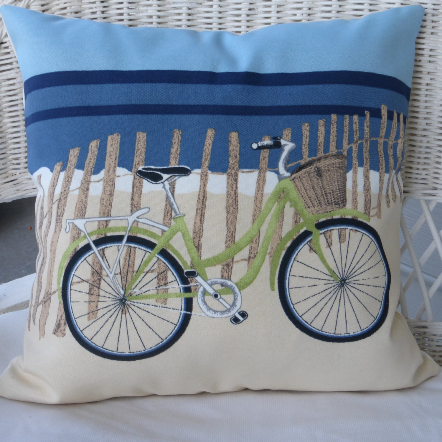 Beach Bicycle Pillow cover Accent pillow covers Bike