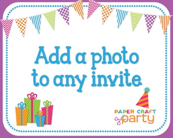 Add-on: Add a Photo to any Invitation