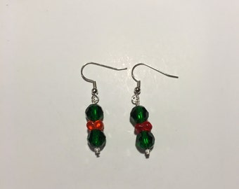 Christmas Holly Earrings