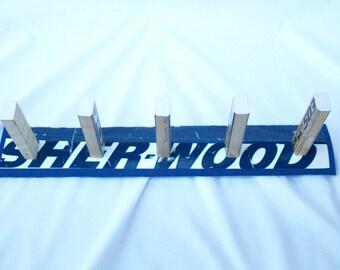 Hockey Stick Coat Rack/Medal Holder