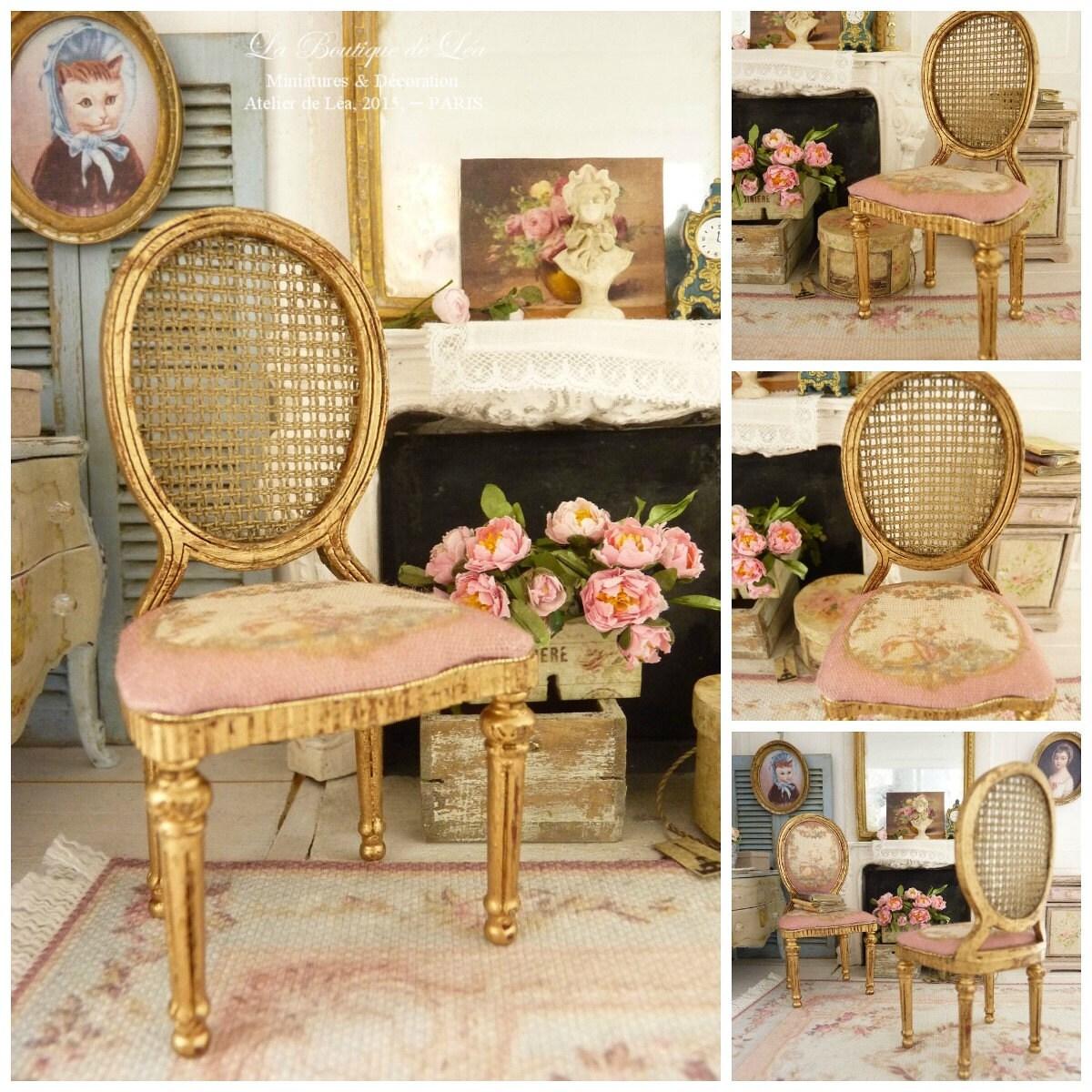 chaise m daillon louis xvi marie antoinette aubusson. Black Bedroom Furniture Sets. Home Design Ideas