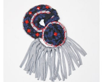 Ornament Brooch Crochet Lycra Recycled