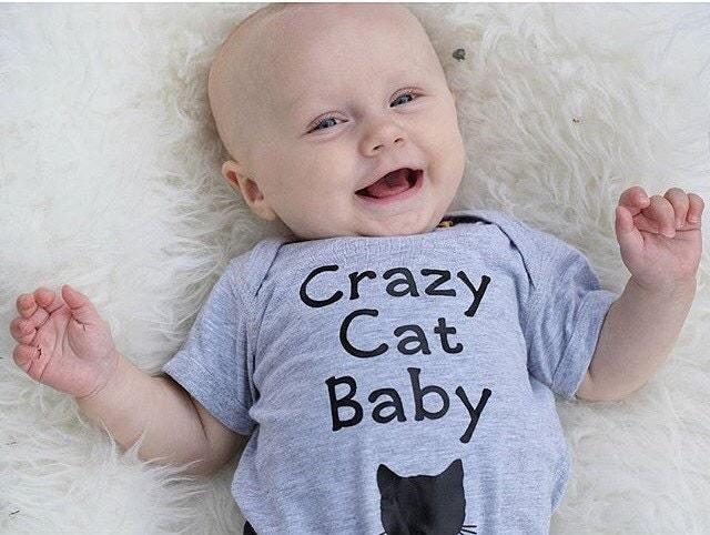 Cat baby clothes baby girl clothes crazy cat baby baby boy
