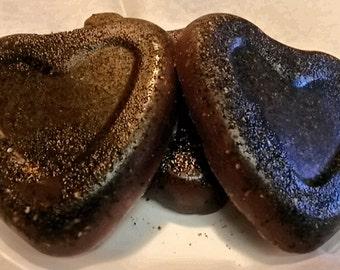 Coffee Chocolate Orange Exfoliating Spa Soap Hearts