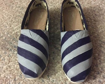 Painted Stripe Toms [i can do any colors!]