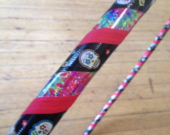Day of the Dead Sugar Skull Taped Adult Hula Hoop