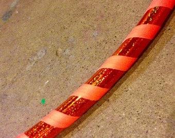Orange Sparkly Taped Kids Hula Hoop