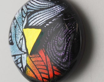 2262 dichroic cabochon - free shipping