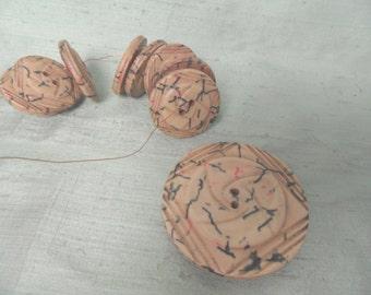 Celluloid button set / vintage buttons / As Is