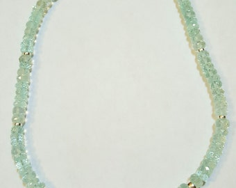 175.87ctw Aquamarine and 13.6x12mm Australian South Sea Pearl Necklace