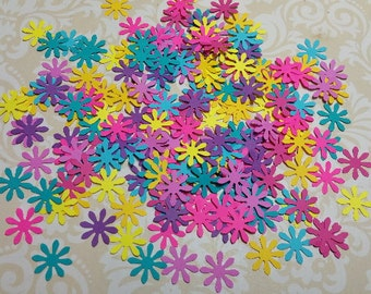 Colorful Die Punched Flowers.   #CON-65