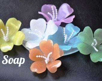 Lei Guest Soaps - 6 Lei Soaps - Wedding Soap, Bridal Shower Favor, Luau Party Decor, Lei Baby Shower Favors, Decorative Soap