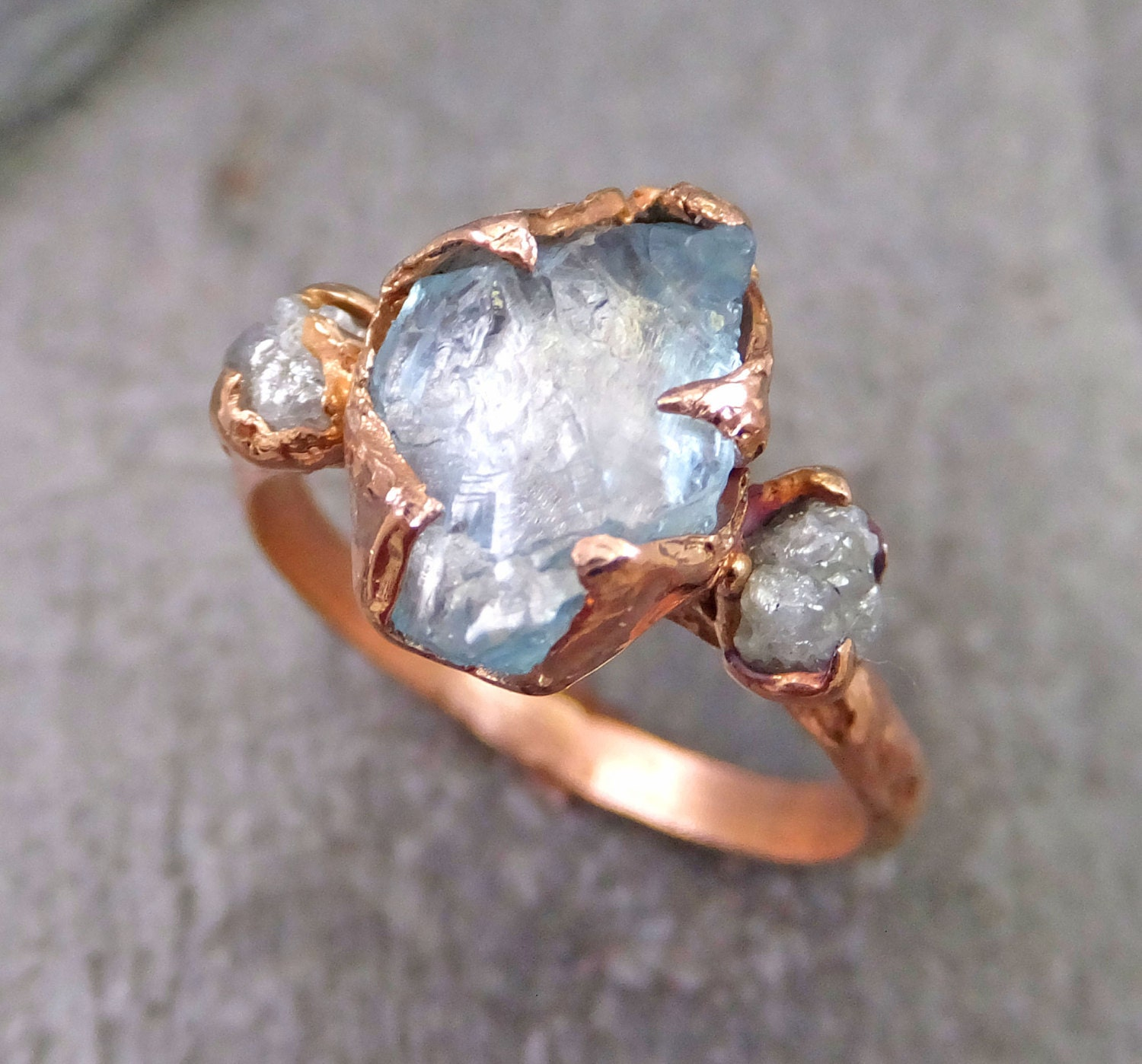 Raw Uncut Aquamarine Diamond Rose Gold Engagement Ring Wedding. Historical Engagement Rings. Scar Rings. Diamond Indian Wedding Rings. Profile Engagement Rings. Blue Color Rings. Natural Blue Diamond Wedding Rings. Initial Wedding Rings. Amethyst Side Stone Wedding Rings