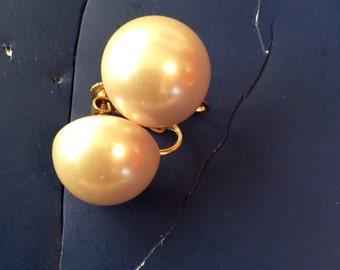 Pearl beaded clip on earrings 1 in