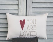 You Are Loved Pillow Decor Pillow Small Pillow Home Decor