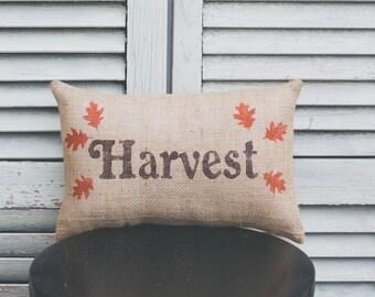 Fall Pillow Harvest Pillow Autumn Pillow Fall Decor Decorative Pillow 14x9 pillow