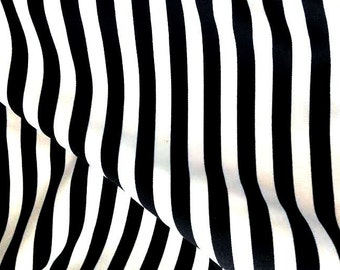 Striped Black And White Fabric Width 55 Sold By The