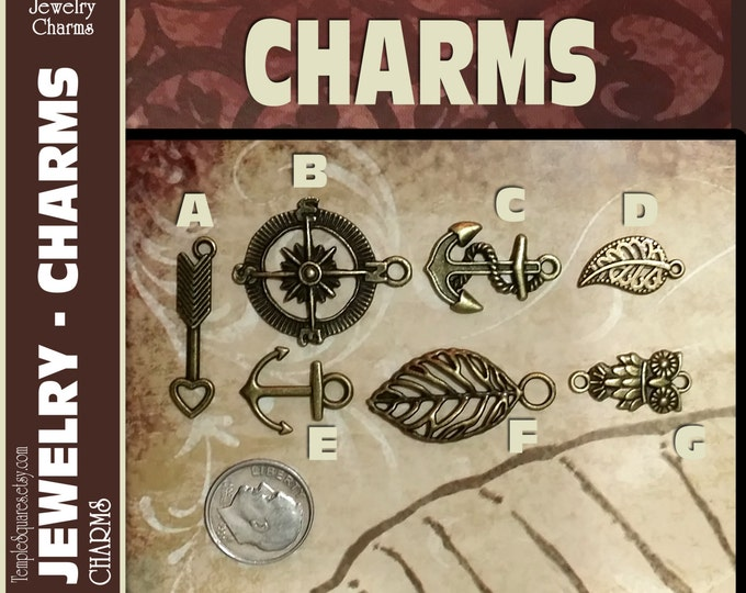 Pack of 10 Charms for DIY Jewelry  Craft Supplies for LDS activities or gifts, pendants, bracelets. Press Forward YW 2016 Mutual Theme.