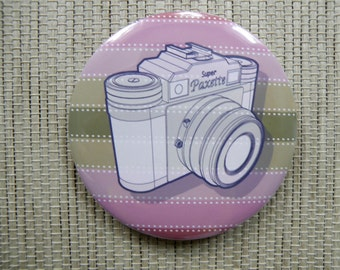 Vintage camera bottle opener magnet - Paxette