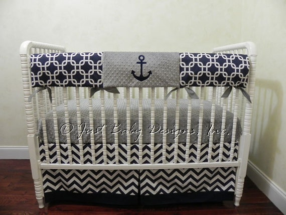 Nautical Crib Bedding Set Nelson Boy Baby Bedding Anchor