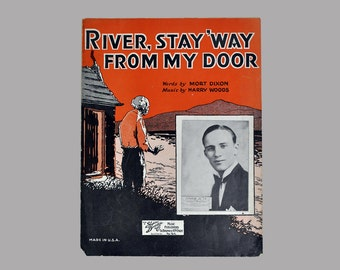 River Stay Away From My Door Antique/Vintage Sheet Music Dated 1931