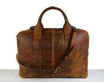 Leather handbag, Leather satchel bag, messenger bag, Leather laptop bag, Leather Shoulder bag, iPad bag. Mens Women Unisex Vintage Briefcase