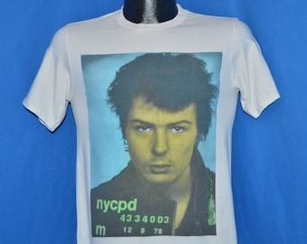 80s Sid Vicious Mug Shot Boy London t-shirt Small