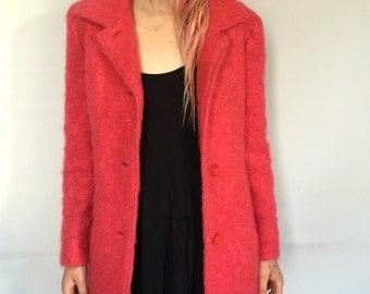 Hot Pink 1960s Mohair Coat