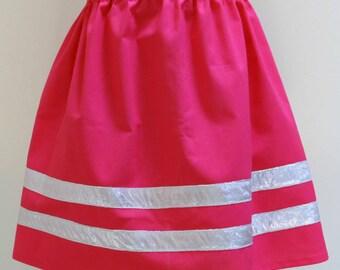 Gathered Skirt, Summer Skirt, Size 6,