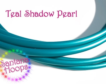 5/8 Mini Twins Teal Shadow Pearl Polypro Hula Hoop Minis