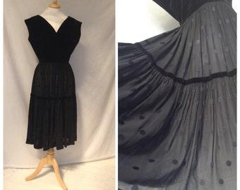 1940s Dress, Party, Dinner Dance , Black , UK size 12-14, Us size 10-12.