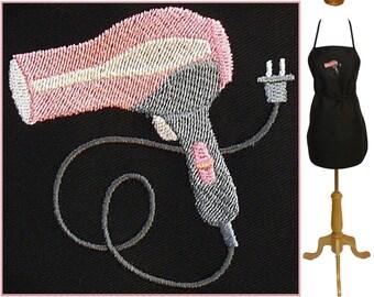 "Hair Stylist Dryer Hairdryer Apron 24"" or 30"" Salon Monogram Custom Embroidered"