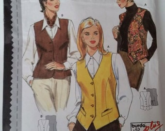 Burda Studio Sewing Pattern 3413 Misses' Semi-Fitted Vest in size 8-26