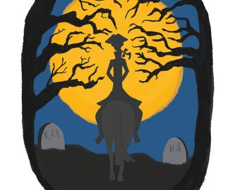 Ichabod Crane - Sleepy Hollow - Fine Art Print