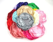 """Grab Bag of 10 Flowers - Unfinished 4"""" Flat peony Flowers - UFP-GB"""
