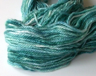 Hand dyed 100% cashmere yarn 87 yds.