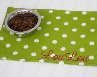 Personalized Pet Mat - Pet Placemat for your Dog or Cat - ALL SIZES - Pet Christmas Gift
