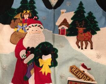 Quacker Factory Santa cardigan.  Sized medium.
