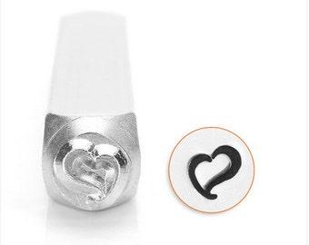Heart Design Metal Stamp, 6mm SC158-B-6MM , metal stamping , metal punch