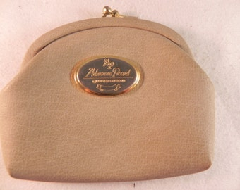 Vintage Coin Purse Gray Leather by Adrienne Picard Limited Edition