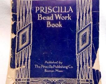 Edwardian / Art Nouveau Original Priscilla Bead Work Book, c. 1912