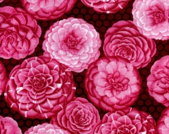 Pink Azalea Bohemia Hoffman Floral Fabric L3356 1/2 Yard
