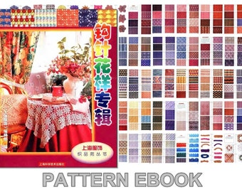 PDF crochet pattern, Japanese eBook, 378 Stitches & Motifs, No.008