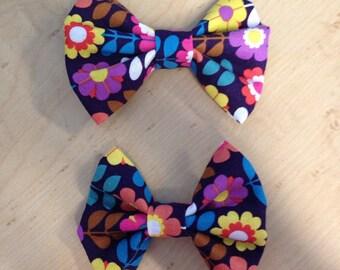 Flower hair bow on a clip